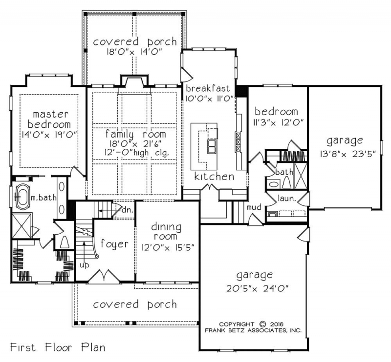 Statesboro House Floor Plan Frank Betz Associates